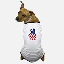 Peace USA Flag-01 Dog T-Shirt