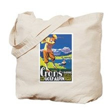 Switzerland Golfing Tote Bag