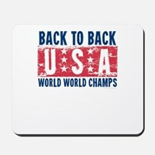USa Back to Back World War Champs-01 Mousepad
