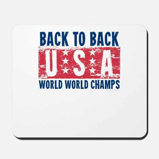 USa Back to Back World War Champs-01 Mousepad