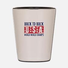 USa Back to Back World War Champs-01 Shot Glass
