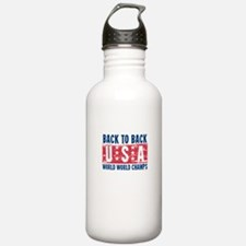 USa Back to Back World War Champs-01 Water Bottle