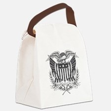 Back To Back World War Champs USA Canvas Lunch Bag