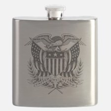 Back To Back World War Champs USA Flask