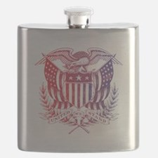 United We Stand USA 4th of July-01 Flask