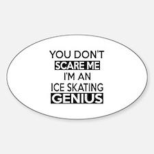 I Am Ice Skating Genius Decal