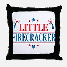 4th of July, Little Firecracker Throw Pillow