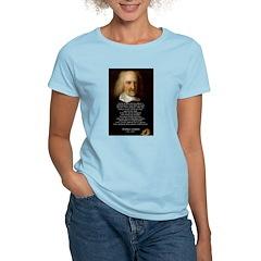Thomas Hobbes: War Women's Pink T-Shirt