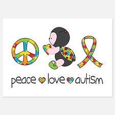 Peace Love Autism Invitations