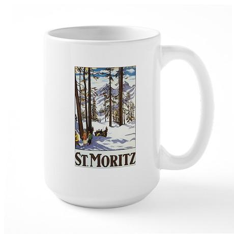 Switzerland Skiing Large Mug