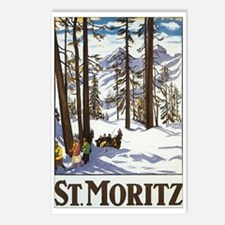 Switzerland Skiing Postcards (Package of 8)