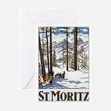 Switzerland Skiing Greeting Card