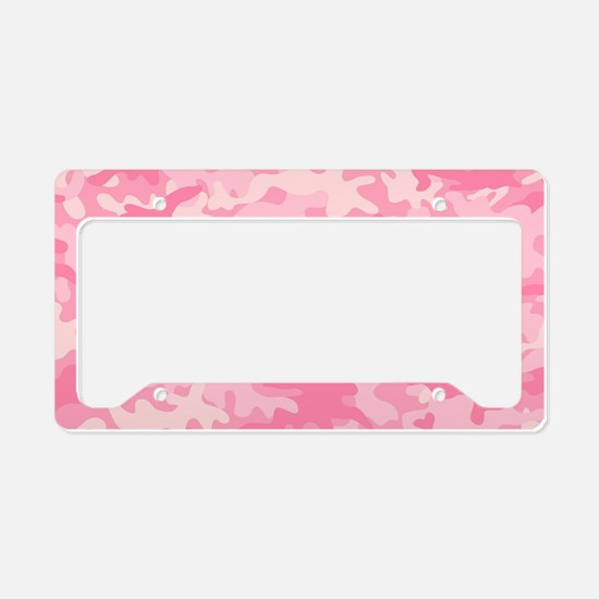 Cute Pink camo License Plate Holder