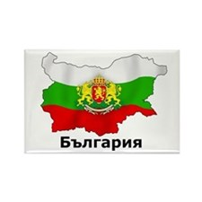 Bulgaria flag map Rectangle Magnet