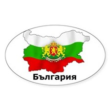 Bulgaria flag map Oval Decal