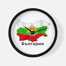 Bulgaria flag map Wall Clock