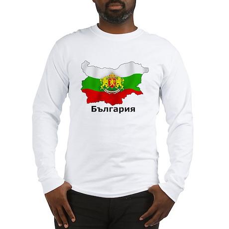 Bulgaria flag map Long Sleeve T-Shirt