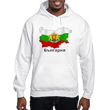 Bulgaria flag map Hoodie