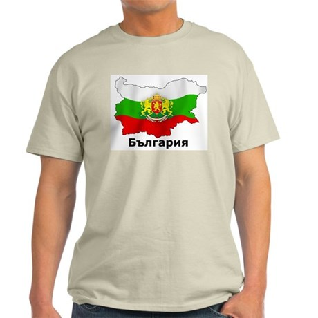Bulgaria flag map Light T-Shirt