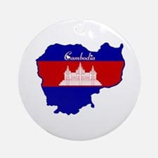 Cool Cambodia Ornament (Round)