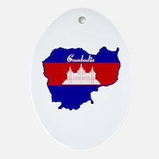 Cool Cambodia Oval Ornament