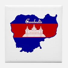 Cool Cambodia Tile Coaster