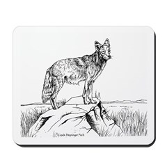 Coyote Ink Drawing Mousepad