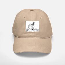 Coyote Ink Drawing Baseball Baseball Cap