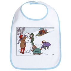 1930's Snow Fun #1 Bib