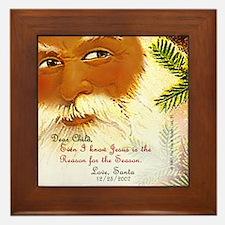 """""""Dear Child"""" from Santa Framed Tile"""