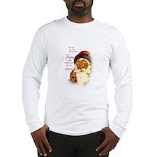 Even Santa Knows/Celebrate Jesus-Lng Slv-blk Santa