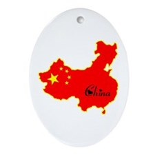 Cool China Oval Ornament