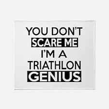 I Am Triathlon Genius Throw Blanket