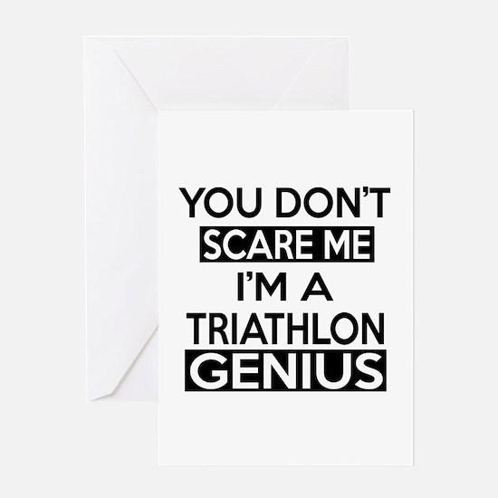 I Am Triathlon Genius Greeting Card