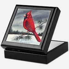Cardinal on Pine Keepsake Box