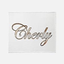 Gold Cherly Throw Blanket