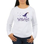 Witchy Hat Women's Long Sleeve T-Shirt