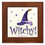 Witchy Hat Framed Tile