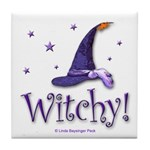 Witchy Hat Tile Coaster
