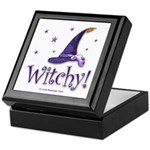 Witchy Hat Tile-topped Keepsake Box