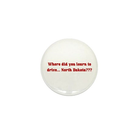Drive North Dakota Mini Button (100 pack)
