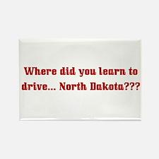 Drive North Dakota Rectangle Magnet