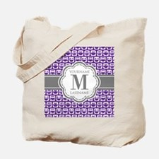 Purple Owl Personalized Tote Bag
