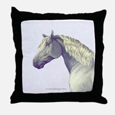 Percheron Horse Throw Pillow