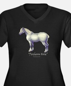 Percheron Horse Women's Plus Size V-Neck Dark T-Sh