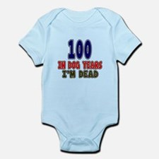 Funny 100 Years Birthday Designs Infant Bodysuit
