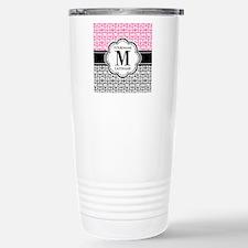Pink and Gray Owl, Pers Travel Mug