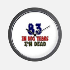 Funny 83 Years Birthday Designs Wall Clock