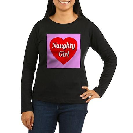 Naughty Girl Women's Long Sleeve Dark T-Shirt