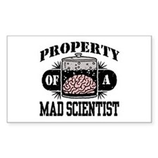 Property of a Mad Scientist Rectangle Decal